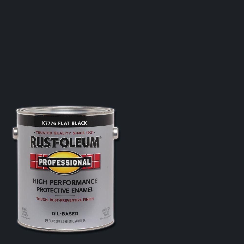 Rust-Oleum Professional 1 gal. Flat Black Protective Enamel