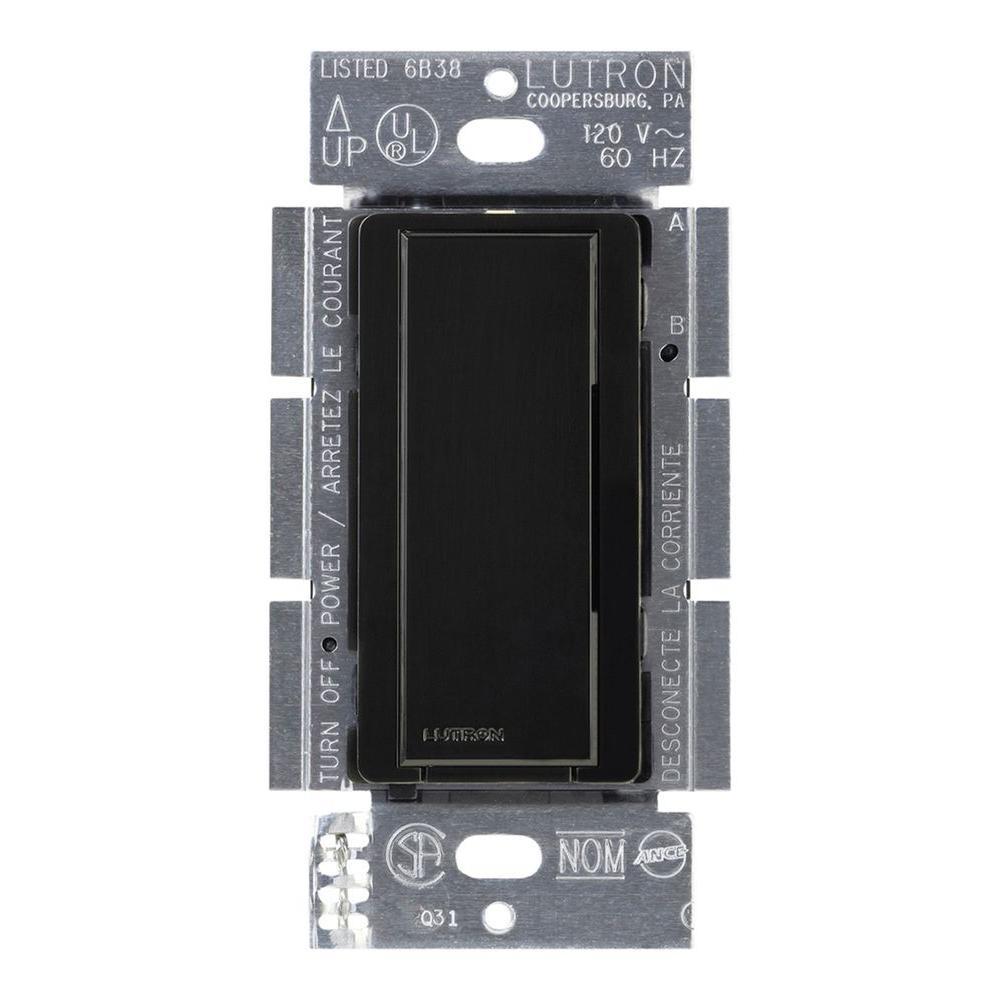 Lutron Maestro 8 Amp Multi Location Companion Switch Black Ma As Light