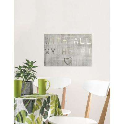 "24 in. x 16in. ""With All My Heart"" By Wynwood Studio Canvas Wall Art"