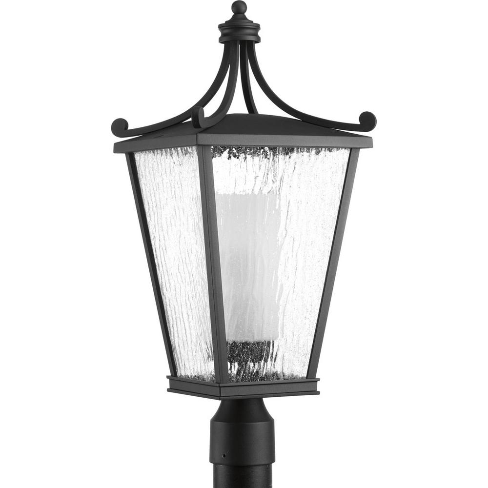 Progress Lighting Cadence Collection 1 Light Black Outdoor Post Lantern