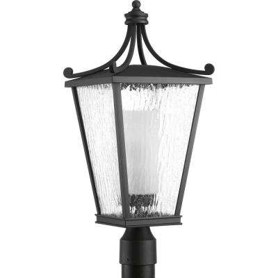Cadence Collection 1-Light Black Outdoor Post Lantern