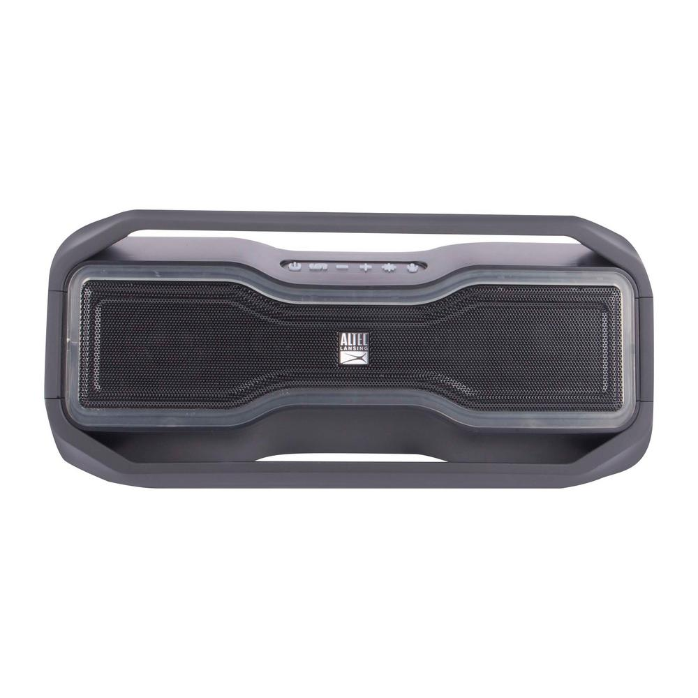 Altec Lansing Rock Box Mini Bluetooth Speaker-IMW10-BLK - The Home Depot