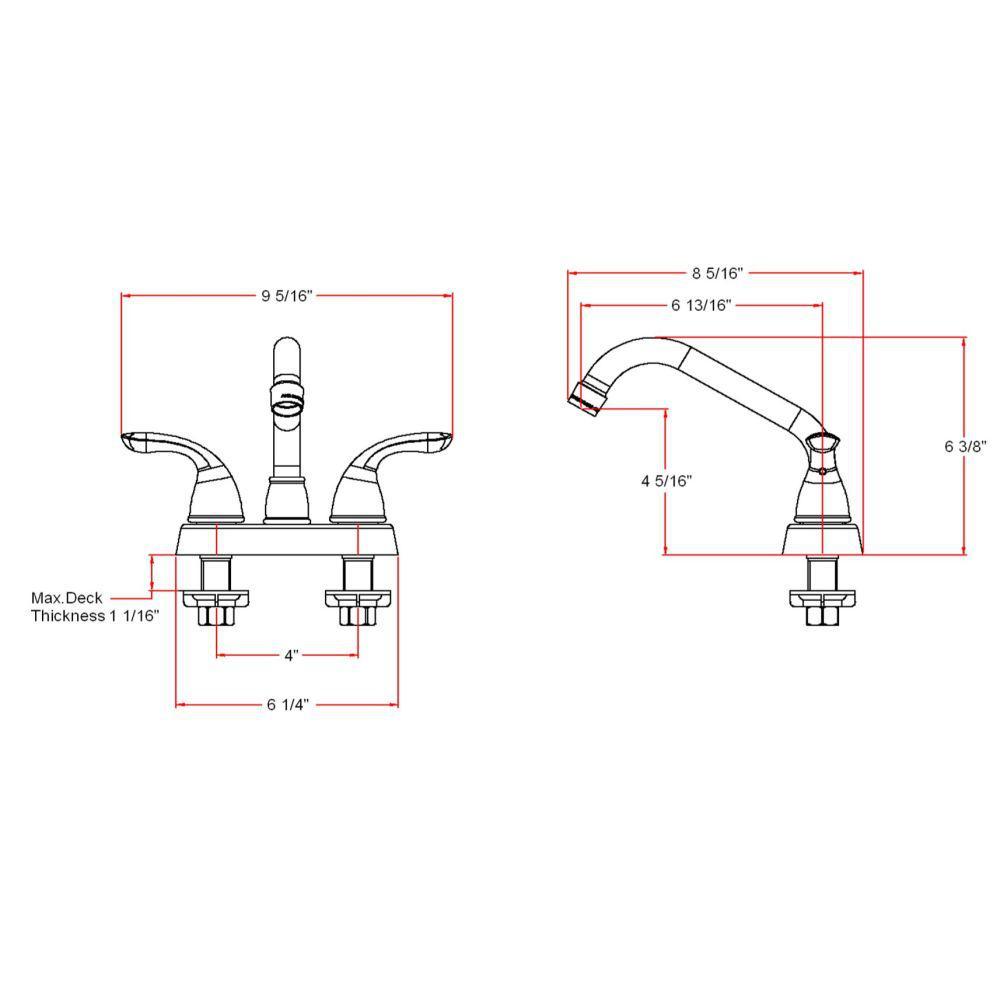 Ashland 2-Handle Utility Faucet in Satin Nickel