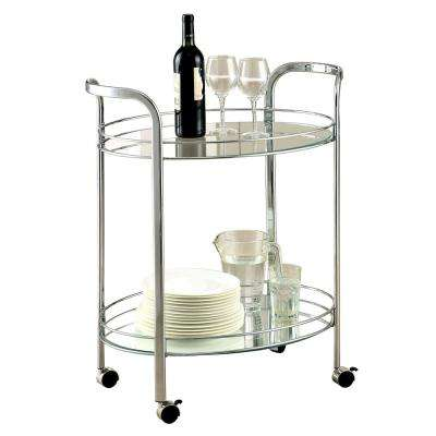 Alamo Chrome Serving Cart