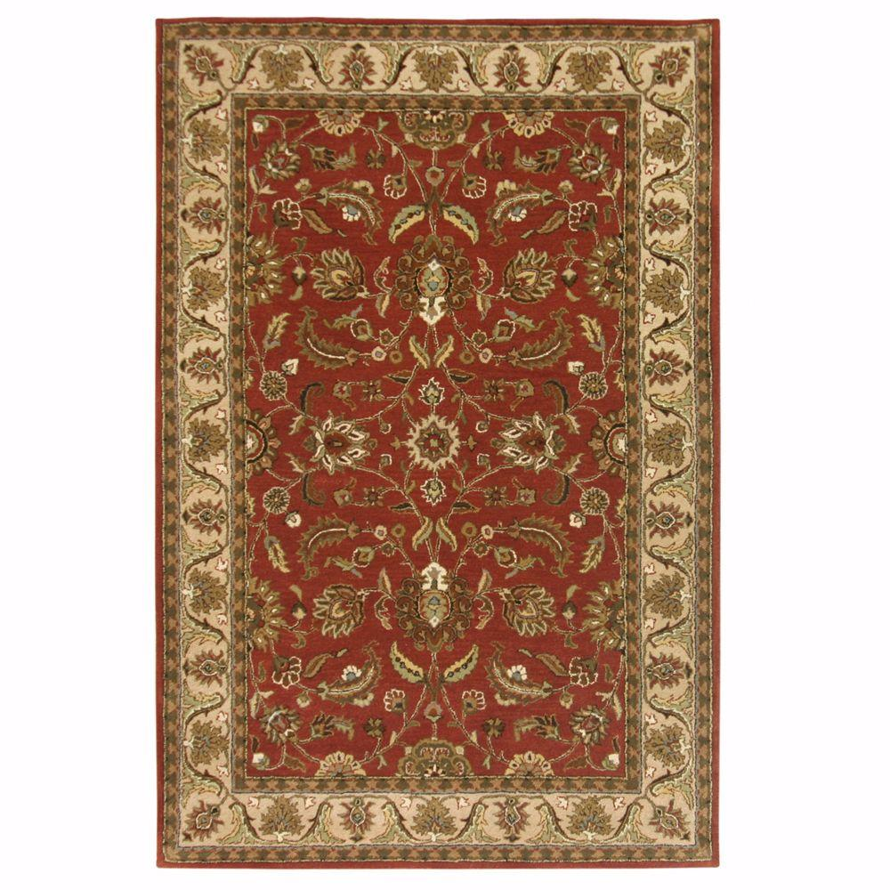 Home Decorators Collection Toulouse Red 6 ft. x 9 ft. Area Rug