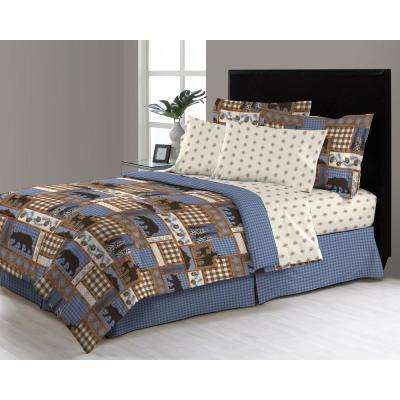Manitoba Trail 6-Piece Twin Bed in a Bag Comforter Set