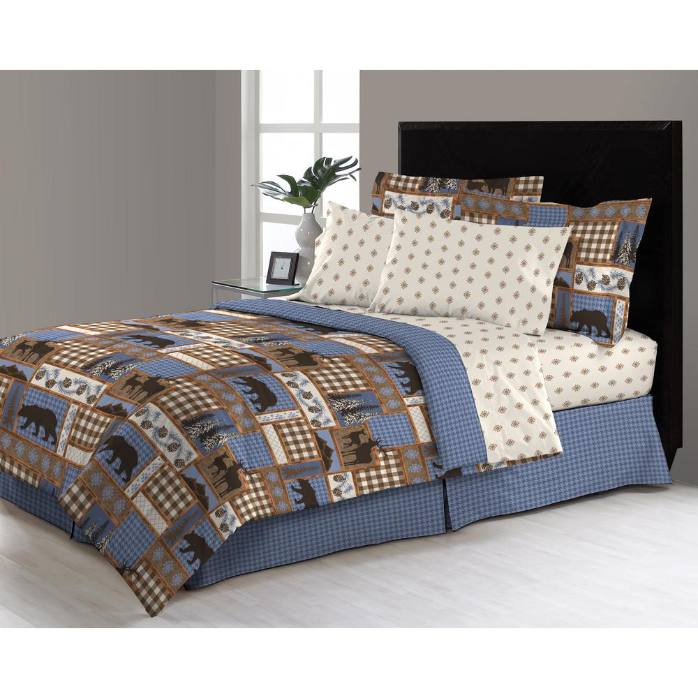 Manitoba Trail 8 Piece Queen Bed In A Bag Comforter Set