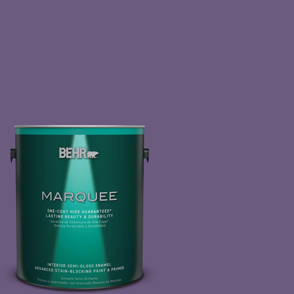 1 gal. #M560-6 Napa Winery One-Coat Hide Semi-Gloss Enamel Interior Paint