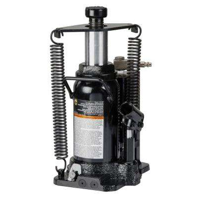 12-Ton Hydraulic Air/Manual Bottle Jack with Return Springs