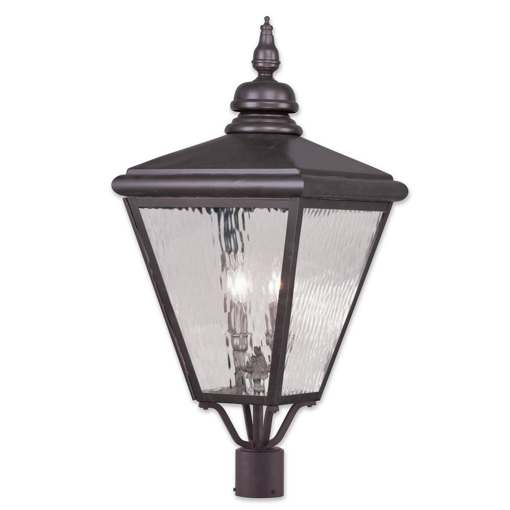 Cambridge 4-Light Outdoor Bronze Lamp Post