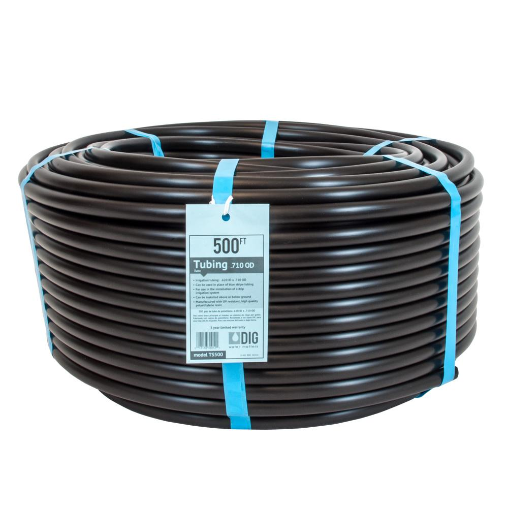 DIG 1/2 in. (0.710 O.D.) x 500 ft. Poly Drip Irrigation Tubing-TS500 ...
