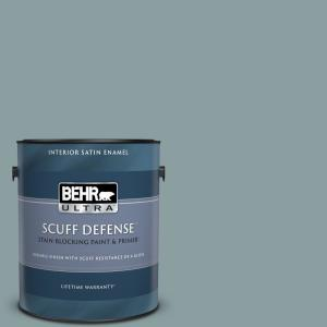 Behr Ultra 1 Gal Ecc 65 3 Teal Wave Extra Durable Satin Enamel Interior Paint Primer 775401 The Home Depot