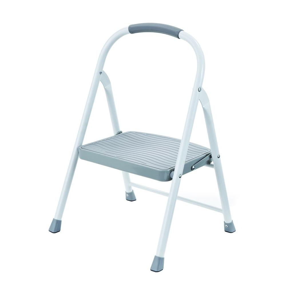 Rubbermaid 1-Step Steel Step Stool with 225 lb. Load Capacity Type II Duty Rating-RMS-1-COM - The Home Depot  sc 1 st  The Home Depot : home depot folding step stool - islam-shia.org