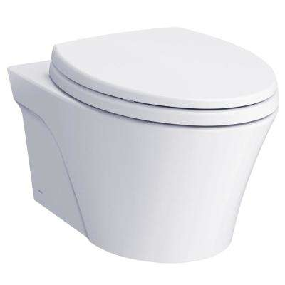 AP 2-Piece 0.9 and 1.28 GPF Dual Flush Wall-Hung Elongated Toilet and DuoFit In-Wall Tank System in White