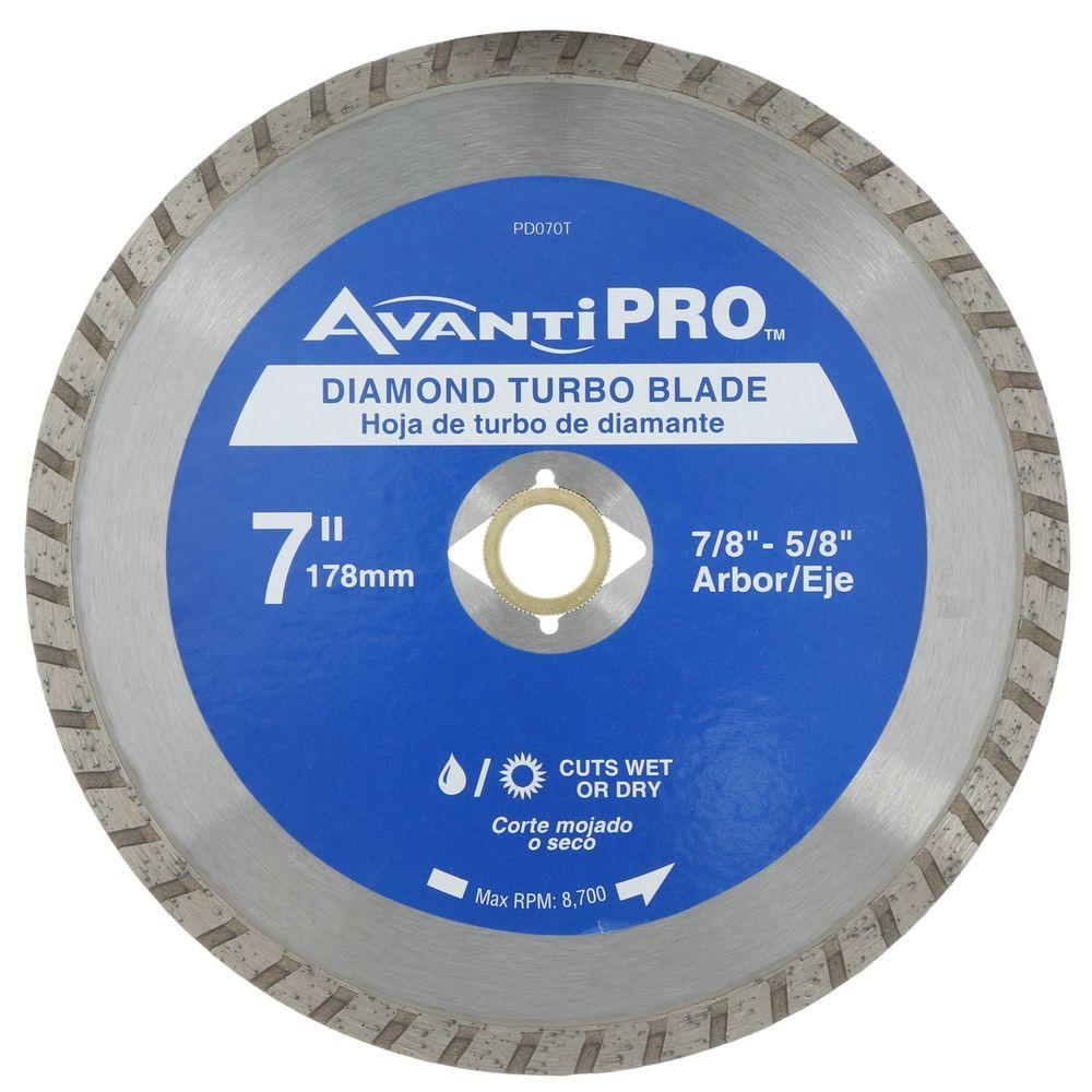 Avanti pro 7 in turbo diamond blade hd t70s8 the home depot turbo diamond blade greentooth