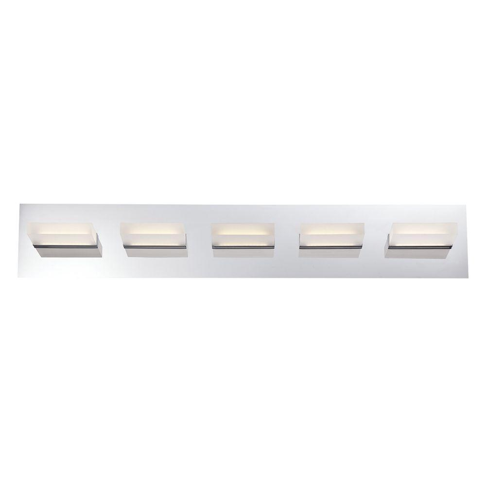 Eurofase Olson Collection 5-Light Chrome LED Bath Bar Light-28022 ...