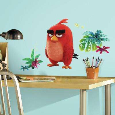 5 in. x 19 in. Angry Birds the Movie Red 6-Piece Peel and Stick Giant Wall Decal