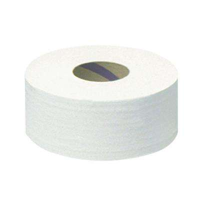 12 in. dia. 3.55 in. x 2000 ft. Scott Jrt Jumbo Roll Bath Tissue White 2-Ply (6 Rolls)