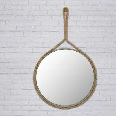 40 in. x 25 in. Rope Framed Wall Mirror
