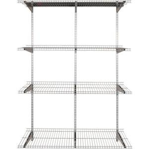 Rubbermaid Fasttrack Garage 4 Shelf 16 In X 48 In Silver