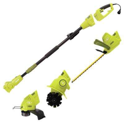 4.5 Amp Electric Lawn and Garden Multi-Tool System Hedge/Pole Trimmer, Grass Trimmer, Garden Tiller