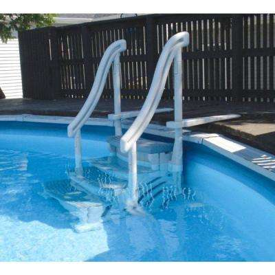 4-Step Entry Steps for Above Ground Swimming Pool with 3 Sand Weights