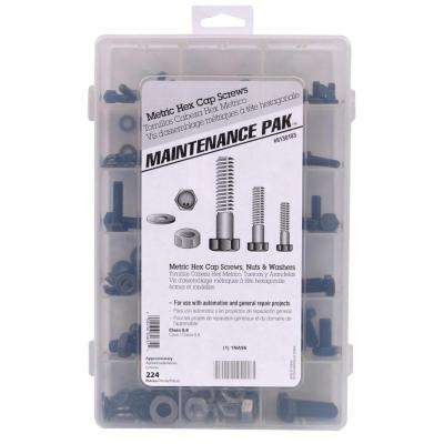 Zinc-Plated Metric Hex Head Cap Screw Kit (224-Piece)