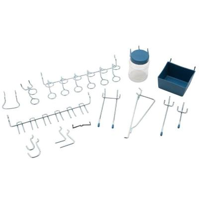 1/8 in Zinc Plated Steel Pegboard Organizer Assortment Kit (43-Piece)