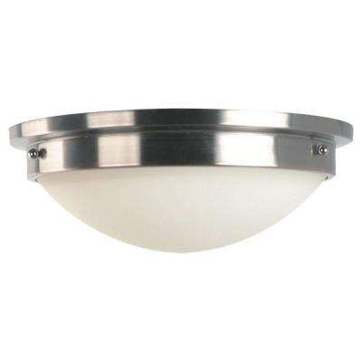 Gravity 2-Light Brushed Steel Indoor Flushmount