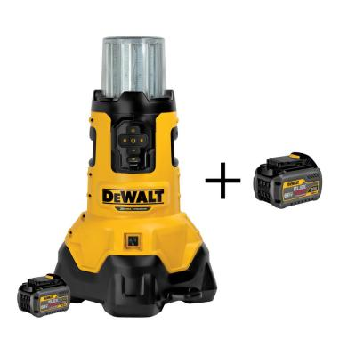 20-Volt MAX Lithium-Ion Corded/Cordless Jobsite Light w/ Tool Connect w/ FLEXVOLT Battery 6Ah, Charger and Bonus Battery
