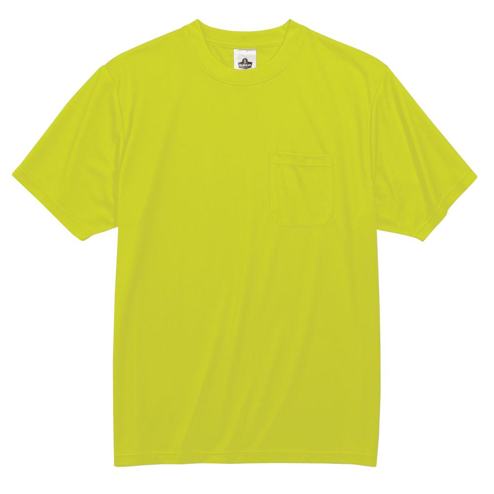 GloWear Men's 2XL Lime Polyester Short Sleeve Safety Shirt