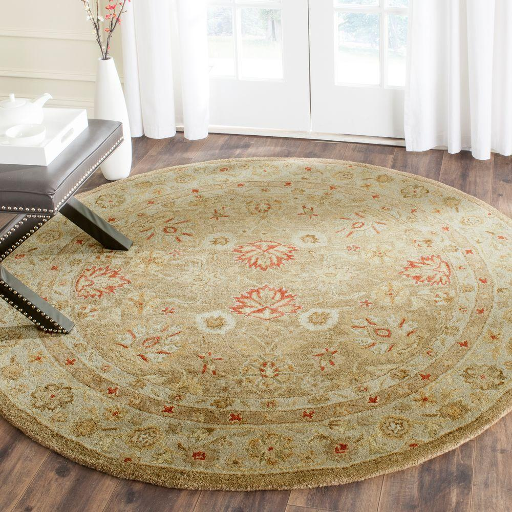 Safavieh Antiquity Brown Beige 10 Ft X 10 Ft Round Area
