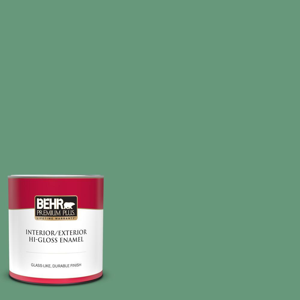Reviews For Behr Premium Plus 1 Qt 470d 5 Herbal Hi Gloss Enamel Interior Exterior Paint 830004 The Home Depot