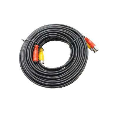50 ft. Premade Premium Siamese Power and Video Cable - Black