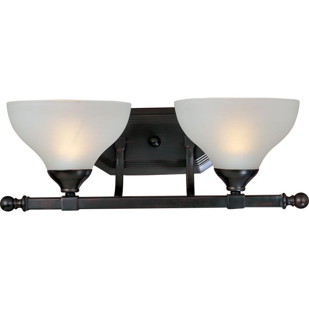 Maxim lighting contour oil rubbed bronze bath vanity light for Bathroom vanity light fixtures oil rubbed bronze