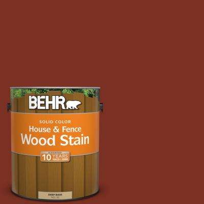 1 gal. #SC-330 Redwood Solid Color House and Fence Exterior Wood Stain