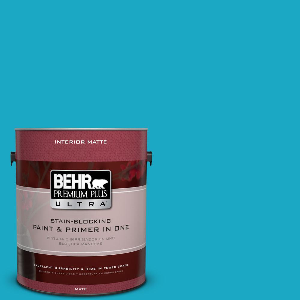 BEHR Premium Plus Ultra 1 gal. #P480-5 High Dive Matte Interior Paint