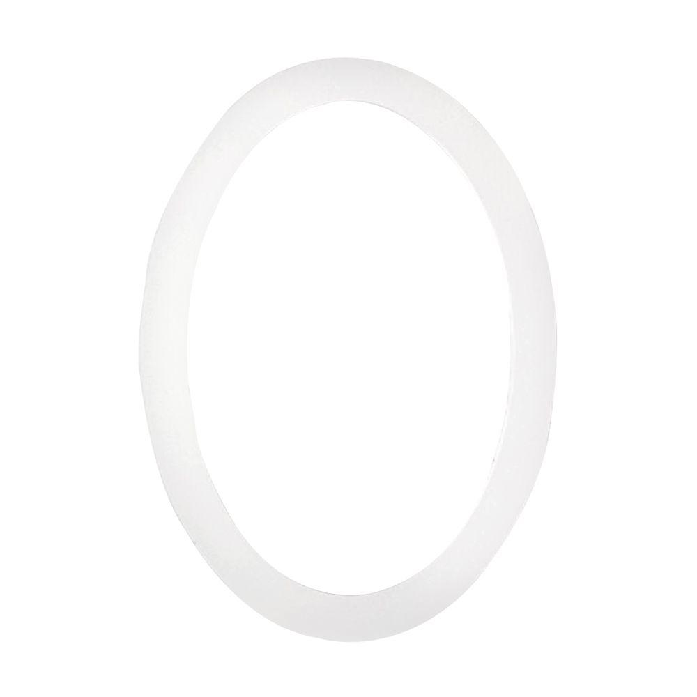 35-1/2 in. x 26-7/8 in. x 1 in. Polyurethane Flat Oval