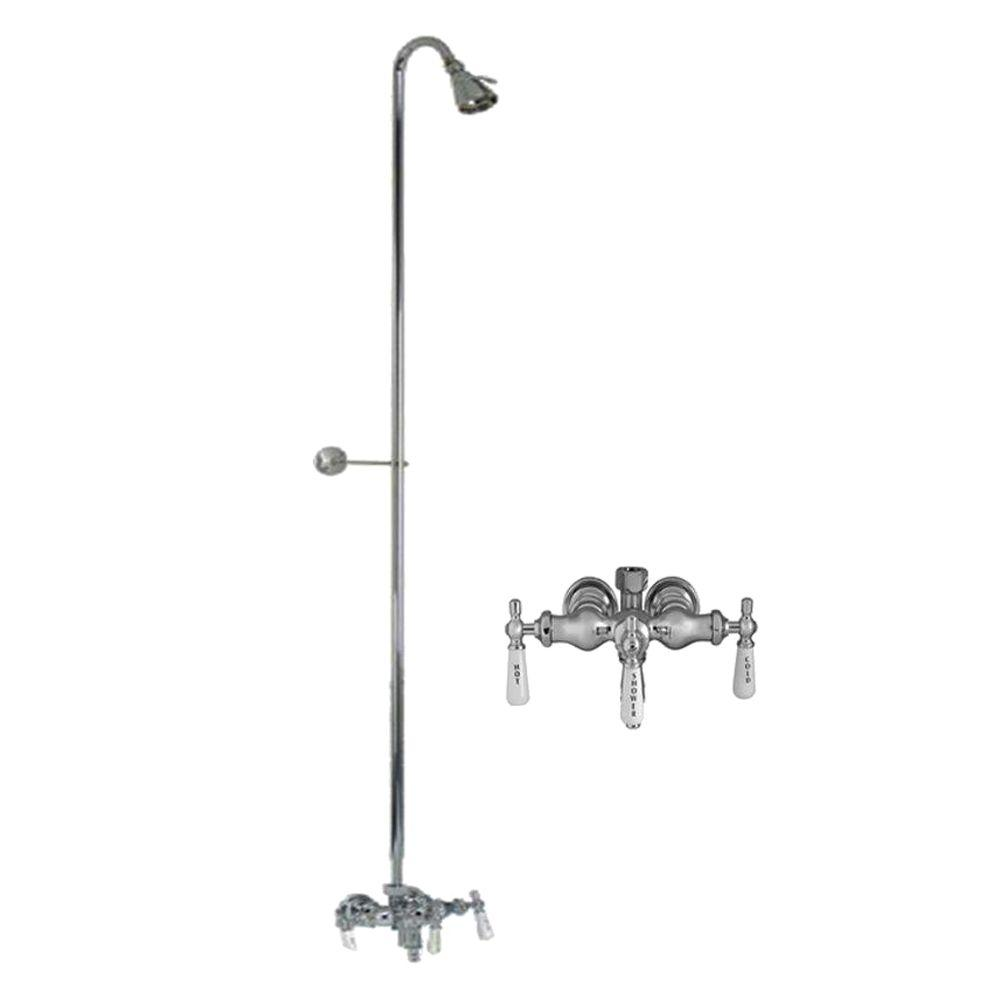 Barclay Products Porcelain Lever 3-Handle Claw Foot Tub Faucet ...