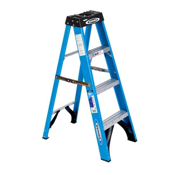 4 ft. Fiberglass Step Ladder with 250 lb. Load Capacity Type I Duty Rating