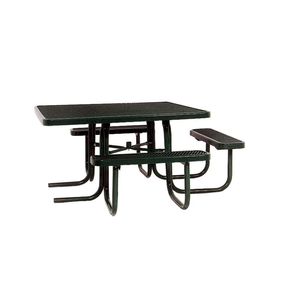 Ultra Play 46 in. x 55 in. Diamond Black Commercial Park Surface Mount and Portable ADA Square Table