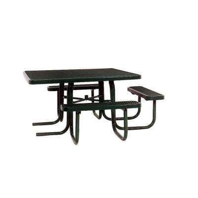 46 in. x 55 in. Diamond Black Commercial Park Surface Mount and Portable ADA Square Table