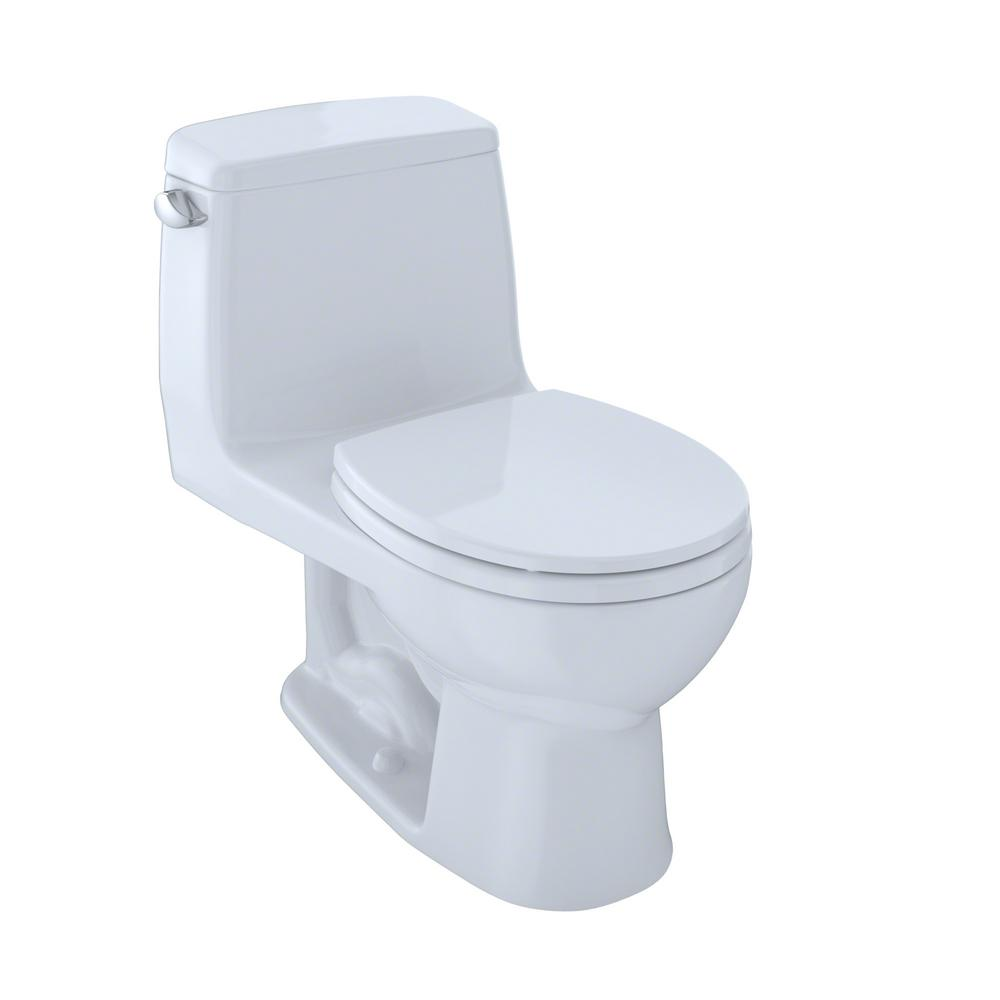 TOTO UltraMax 1 Piece 16 GPF Single Flush Round Toilet In Cotton White Ms853113s01
