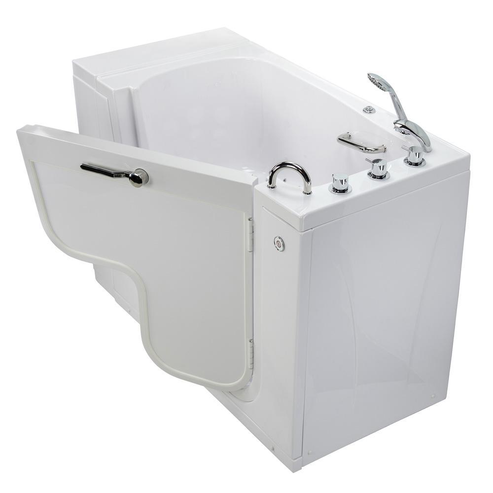 Ella Wheelchair Transfer 52 in. Acrylic Walk-In Air Bath Bathtub in ...