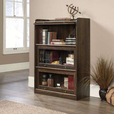 Barrister Lane Iron Oak 3-Door Bookcase