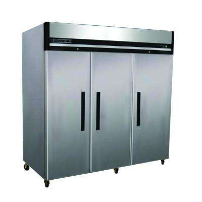 X-Series 72 cu. ft. Triple Door Commercial Reach In Upright Freezer in Stainless Steel