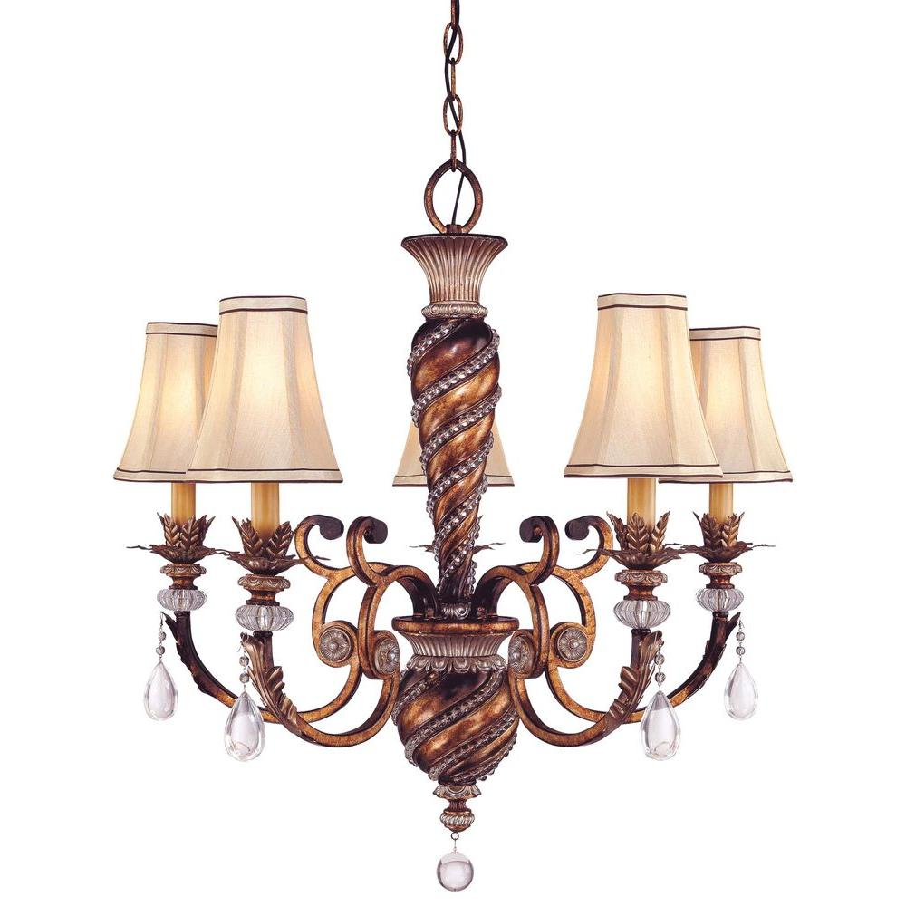 Minka Lavery Aston Court 5-Light Bronze Chandelier
