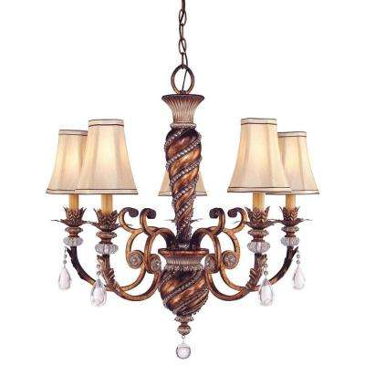 Aston Court 5-Light Bronze Chandelier