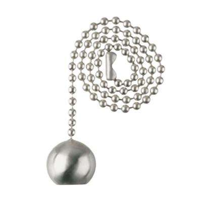 Brushed Nickel Ball Pull Chain