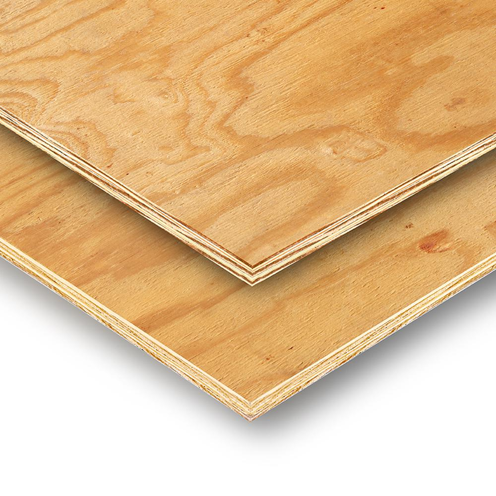 15 32 In X 4 Ft X 8 Ft 3 Ply Rtd Sheathing 132411 The Home Depot